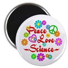 "Peace Love Science 2.25"" Magnet (10 pack)"