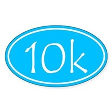 Sky Blue 10k Oval Decal