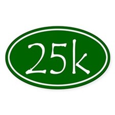 Green 25k Oval Decal