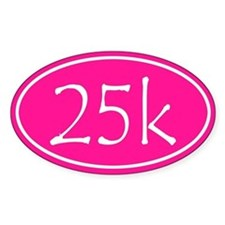 Pink 25k Oval Decal