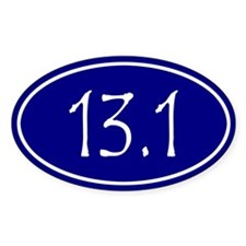Blue 13.1 Oval Decal