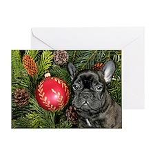 french bulldog christmas Greeting Card