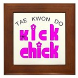 Tae Kwon Do Kick Chick Framed Tile