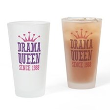 Drama Queen Since 1988 Drinking Glass