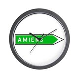 Roadmarker Amiens - France  Wall Clock