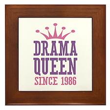 Drama Queen Since 1986 Framed Tile