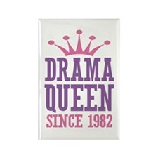 Drama Queen Since 1982 Rectangle Magnet (10 pack)
