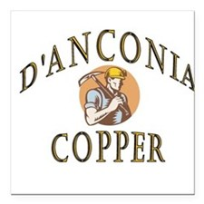 d'Anconia Copper Retro Miner Square Car Magnet 3""