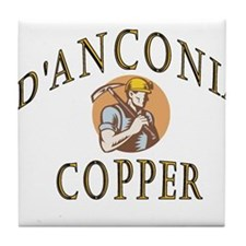 d'Anconia Copper Retro Miner Tile Coaster