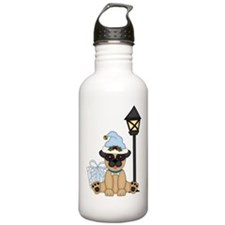 Pug Dog-Xmas 2 Water Bottle