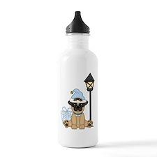 Pug Dog-Xmas 2 Water Bottle
