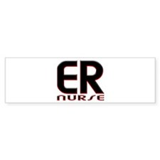 EMERGENCY NURSE 2 RED Bumper Bumper Sticker