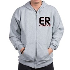 EMERGENCY NURSE 2 RED Zip Hoodie