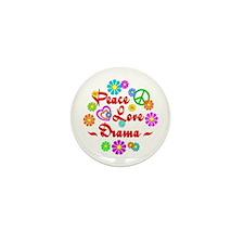Peace Love Drama Mini Button (10 pack)