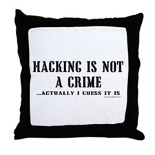 Hacking is Not a Crime Throw Pillow