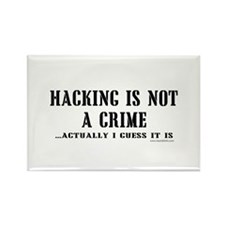 Hacking is Not a Crime Rectangle Magnet (10 pack)