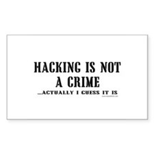 Hacking is Not a Crime Rectangle Decal