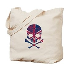 Union Jack Skull Tote Bag