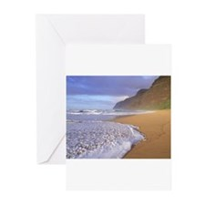Polihale Beach - Kauai, Hawaii Greeting Cards (Pk