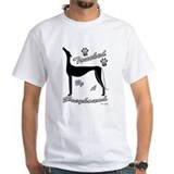 TOUCHED BY A GREYHOUND (BLK) WHITE TEE