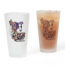 Pitbull Celebrate Day of the Dead Drinking Glass