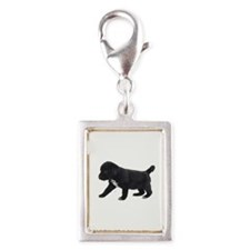 Labrador Retriever Puppy Silver Portrait Charm