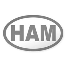 Ham Amateur Radio Oval Decal