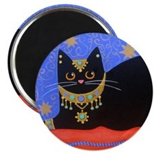 Black Moroccan CAT ART Magnet