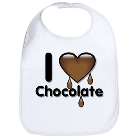 I Love Heart Chocolate Lover Bib