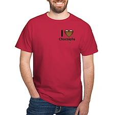 I Love Heart Chocolate Lover T-Shirt