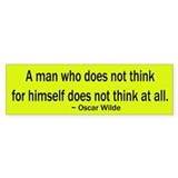 Oscar Wilde Quote Bumper Bumper Sticker