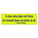 Oscar Wilde Quote Bumper Car Sticker