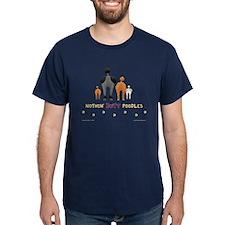 Nothin' Butt Poodles Navy T-Shirt