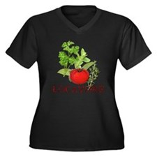 Be A Locavore Women's Plus Size V-Neck Dark T-Shir