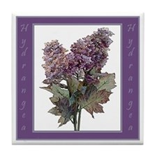 Purple Hydrangea Tile Coaster