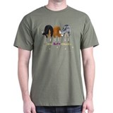 Nothin' Butt Collies Green T-Shirt