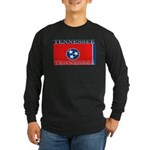 Tennessee State Flag Long Sleeve Black T-Shirt