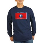 Tennessee State Flag Long Sleeve Blue T-Shirt