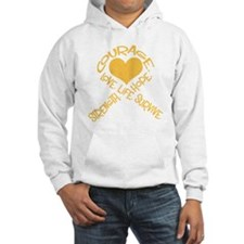 Gold Ribbon of Words Hoodie