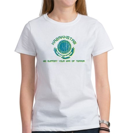 Kazakhstan - We Support Your Womens T-Shirt