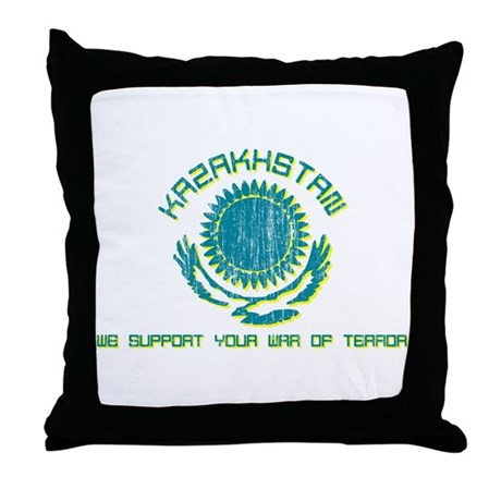 Kazakhstan - We Support Your Throw Pillow