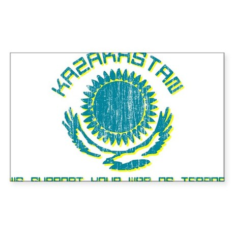 Kazakhstan - We Support Your Sticker (Rectangular
