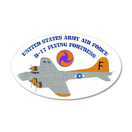 USAAF - B-17 Flying Fortress 20x12 Oval Wall Decal