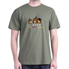 Nothin' Butt Beagles Green T-Shirt
