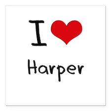 "I Love Harper Square Car Magnet 3"" x 3"""