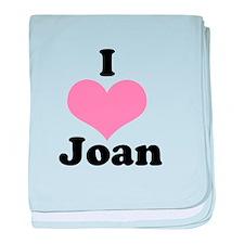 I heart Joan 1 baby blanket