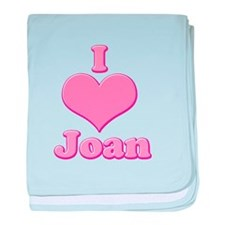 I heart Joan 3 baby blanket