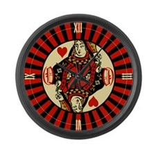 queen-hearts_cl.png Large Wall Clock