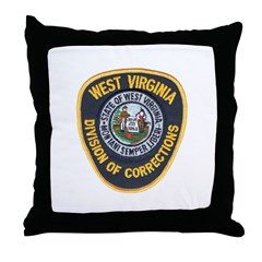 West Virginia Prison Throw Pillow