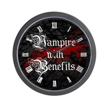 vampire-with-benefits_cl.jpg Wall Clock